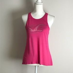 Hollister - Hot pink tank top with seagull